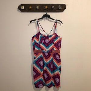 American Eagle tribal strappy dress